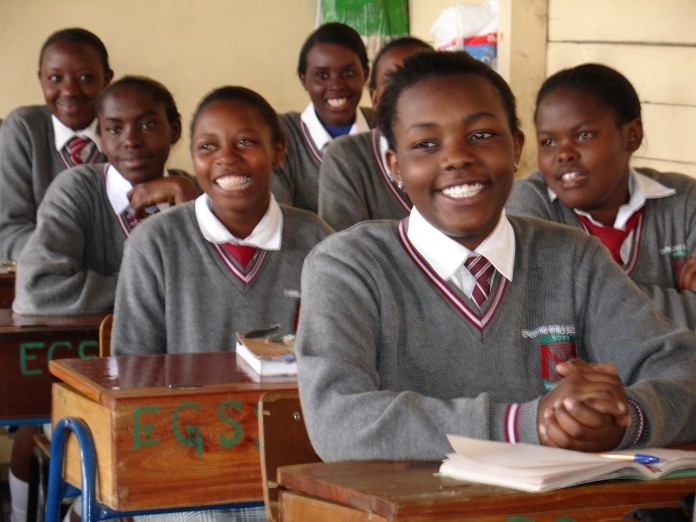 Girls in a classroom