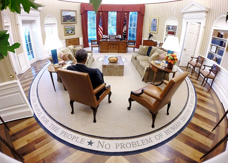 oval office carpet. President Obama Reads Briefing Material In The Oval Office At White House. Carpet O