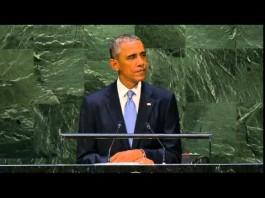 Obama speaks to U.N General Assembly