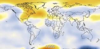 Heat map of the Earth (NASA)