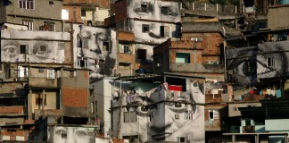 Houses built up vertical surface (AP Images)