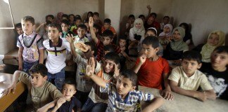 Students in crowded classroom (AP Images)