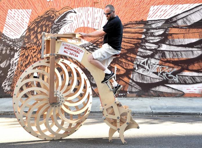 Boneshakered Bigwheel at crowdfunding festival in Florida (AP Images)