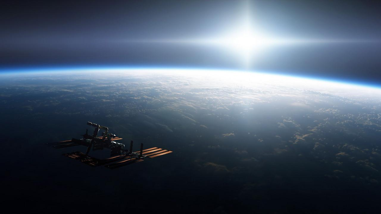International Space Station over Earth (NASA)