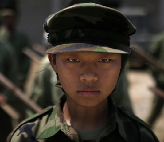 Child soldier in Myanmar (AP Images)