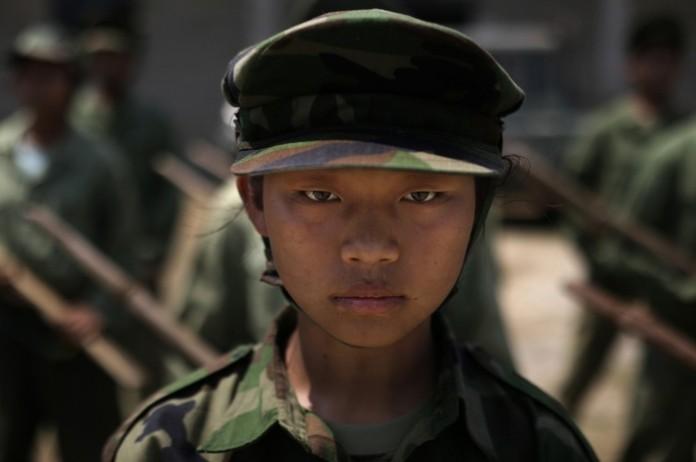 Child soldier in Myanmar (AP Images)