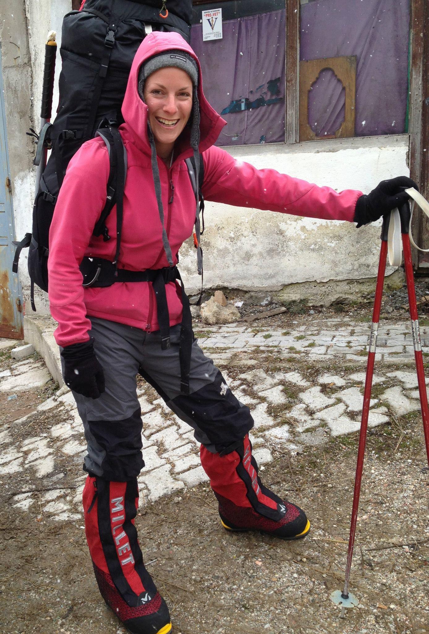 Ilina Arsova posant en tenue d'escalade (Avec l'aimable autorisation d'Ilina Arsova)