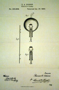 Drawing of lightbulb (© AP Images)