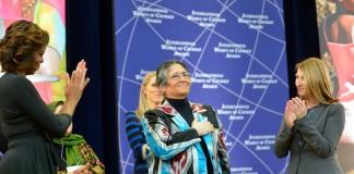 Michelle Obama, Oinikhol Bobonazarova et Heather Higginbottom (Département d'État)