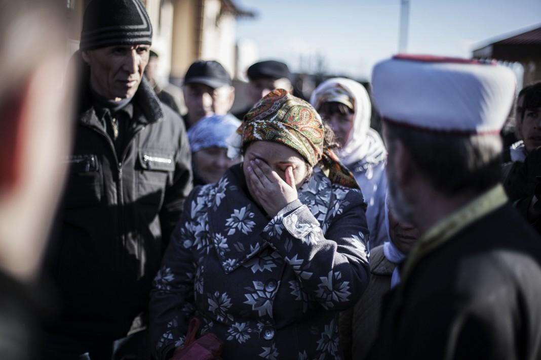 Une femme qui pleure (© AP Images)