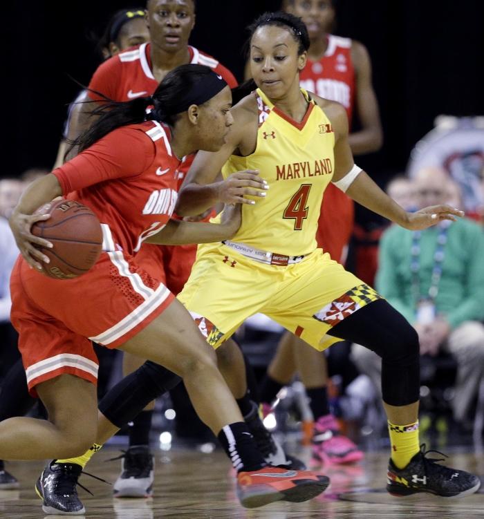 Malina Howard durante un partido de baloncesto (© AP Images)