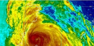 卫星雷达台风成像