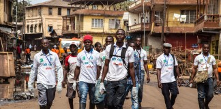 Men on street, Stop Ebola T-shirts