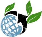 Illustration avec globe, flèche circulaire et feuilles de plantes (Département d'État/Doug Thompson)