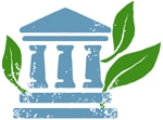 Illustration d'une banque et de feuilles de plantes (Département d'État/Doug Thompson)