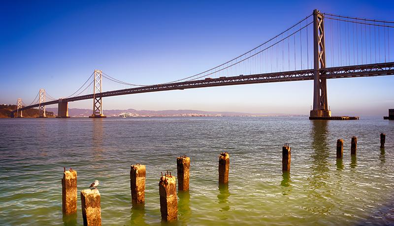 Partie ouest du pont San Francisco-Oakland Bay Bridge (Eric Wagner/Flickr)