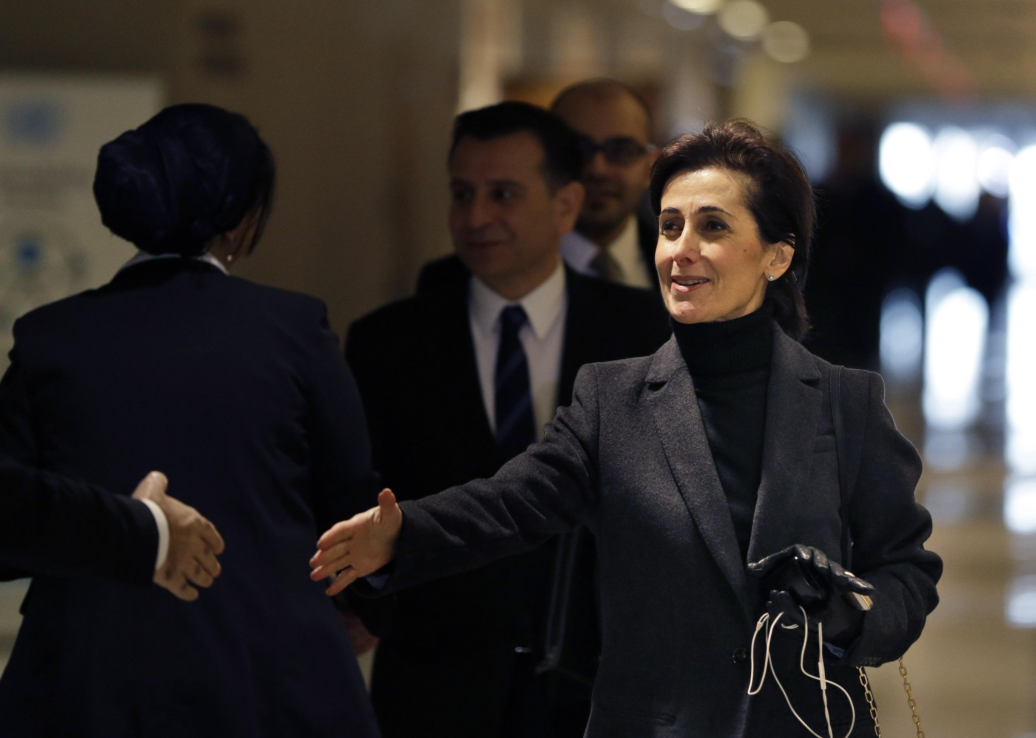 AP Photos- السفيرة الأردنية دينا قعوار