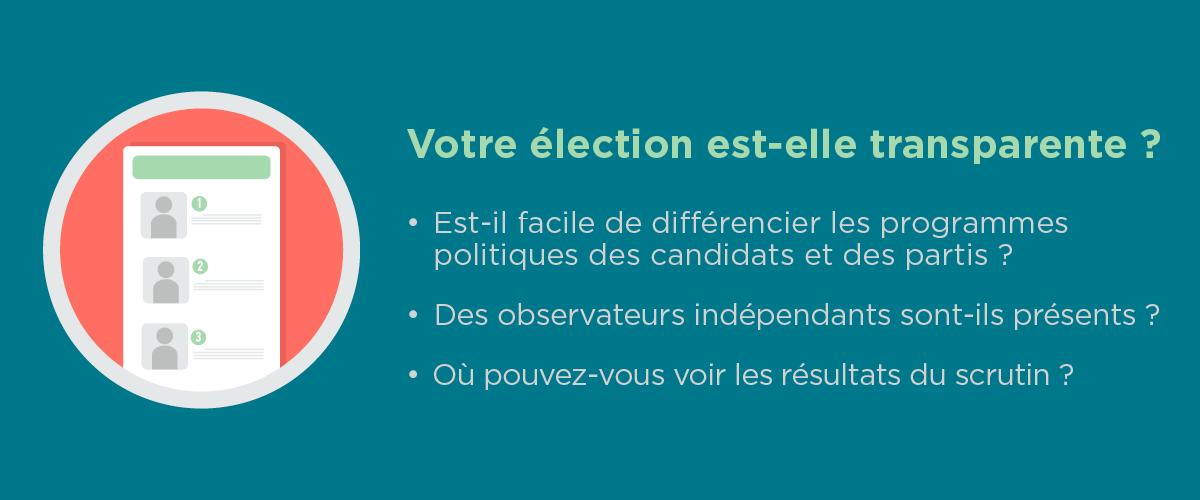 Infographie : Votre élection est-elle transparente ? (Département d'État/ Jamie McCann)