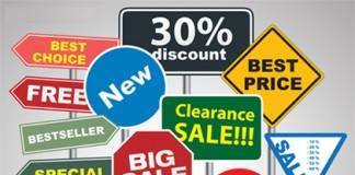 Carteles de publicidad y venta (Shutterstock)
