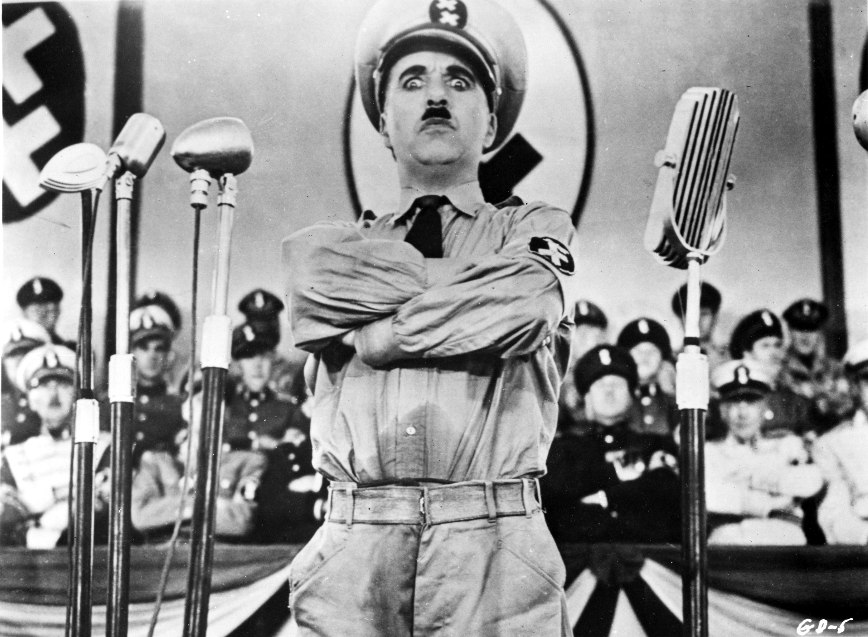 the characterization of adolf hitler by charlie chaplin in the great dictator
