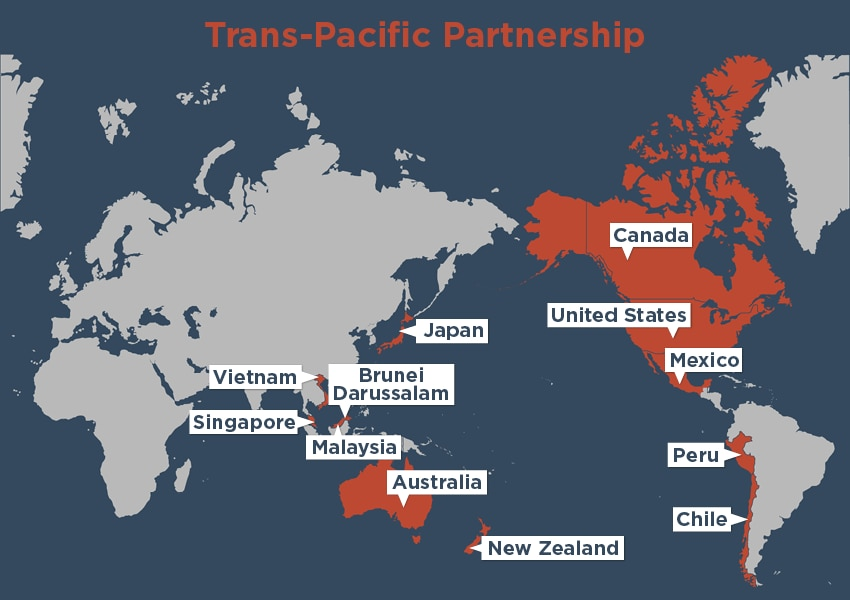 trans pacific partnership and china The trans-pacific partnership (tpp) is a trade agreement between australia, brunei, canada, chile, japan, malaysia, mexico, new zealand, peru.