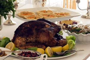 بوقلمون غذای اصلی سفره شام بیشتر خانواده های آمریکایی در روز شکرگزاری است. (عکس از آسوشیتدپرس)