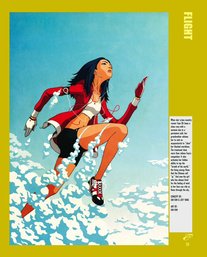 一名行走如飞的女孩的插图 (© Ian Kim and Jeff Yang/The New Press)