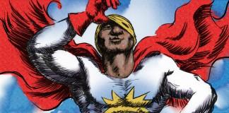 一位非洲裔超级英雄掀开蒙面巾的一角 (美国国务院/Doug Thompson)