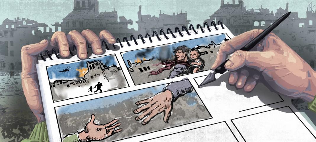 تصویر گرافیک از کاریکاتورهایی که با دست کشیده شده اند (وزارت امور خارجه/ داگ تامپسون)