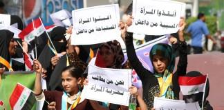 Musulmanes protestan contra Daesh (© Haidar Mohammed Ali/AFP/Getty Images)