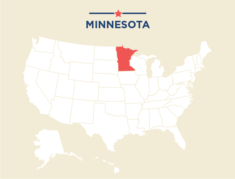 U.S. map with Minnesota highlighted (State Dept.)