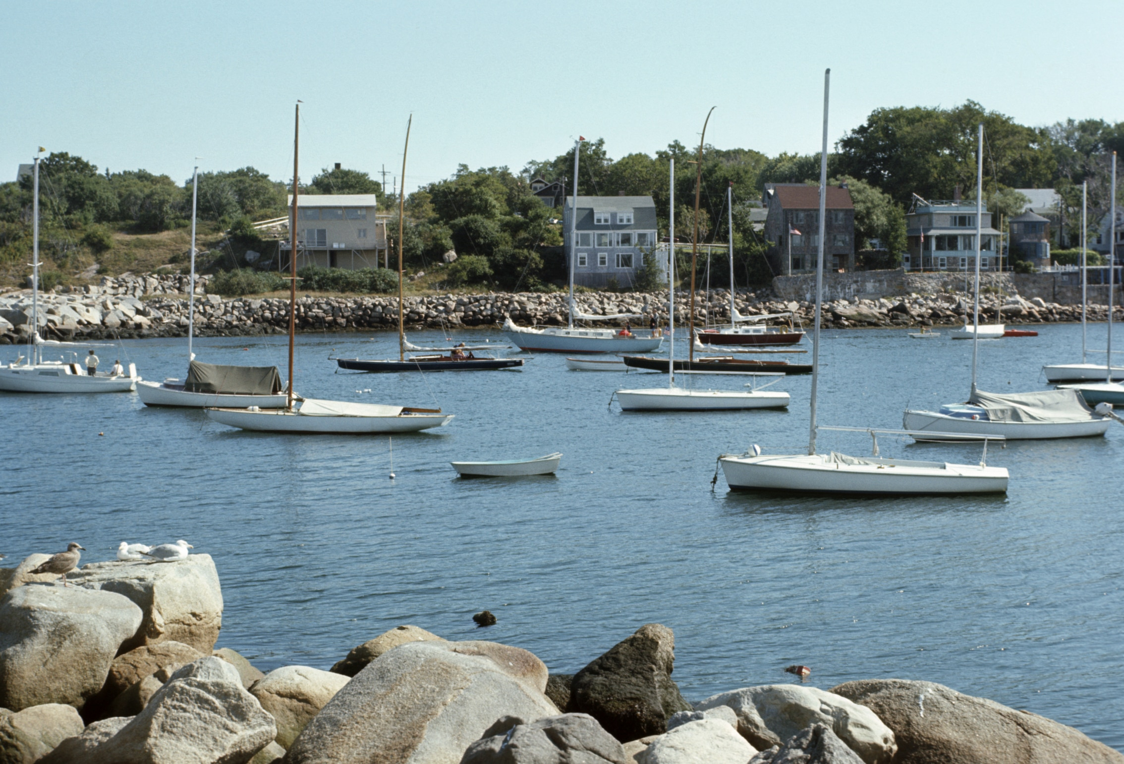 Des voiliers ancrés dans une baie (Thinkstock)