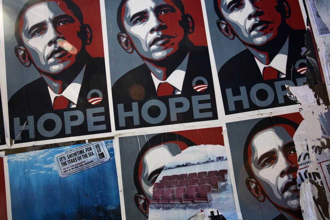 Affiches de campagne de Barack Obama (© AP Images)