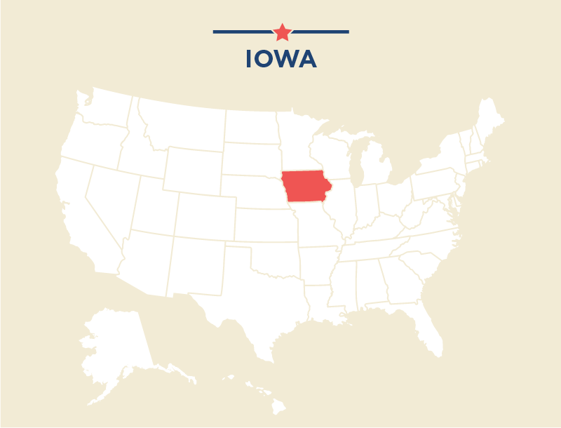 Iowa Presidential Caucuses State Fair And More ShareAmerica - Iowa on a us map