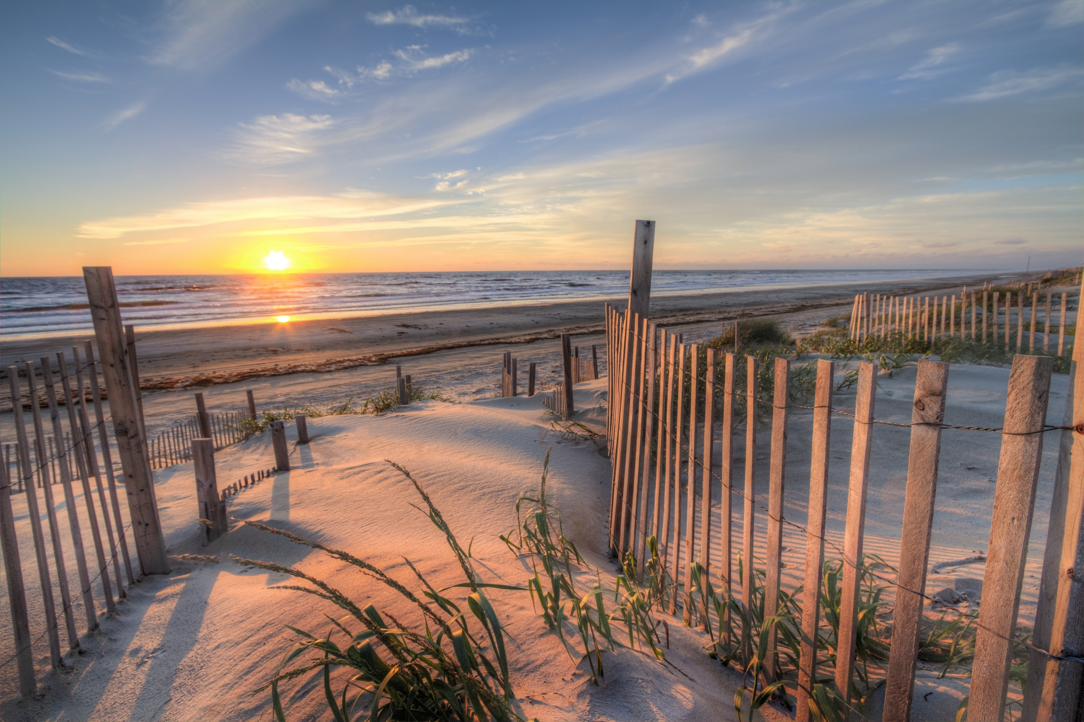 Sunrise At A Beach In North Carolinas