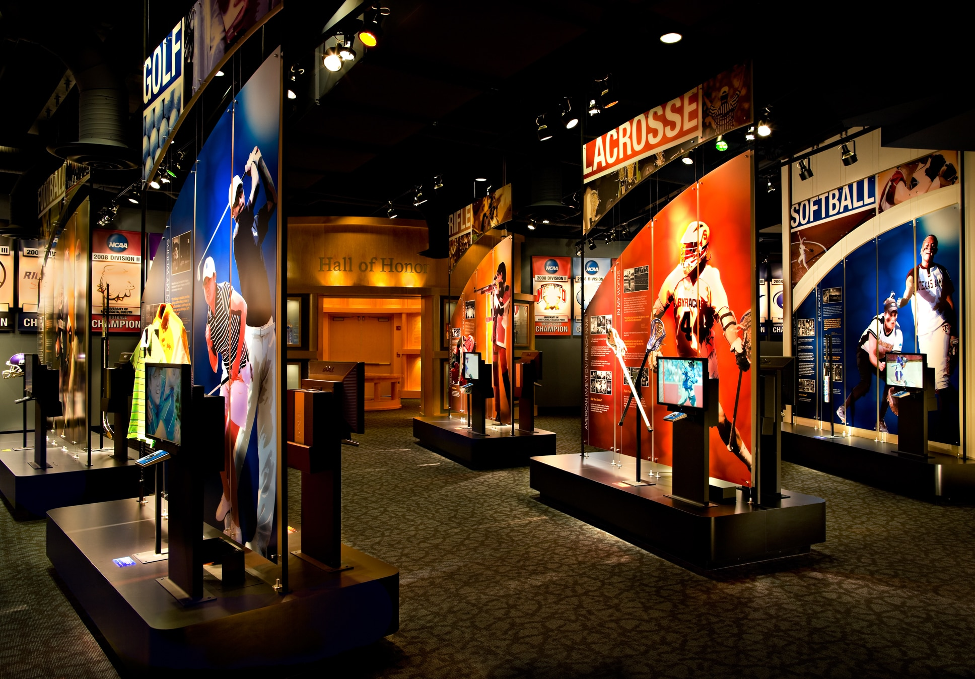 Memorabilia and exhibits from the NCAA Hall of Champions (Courtesy of VisitIndy.com)