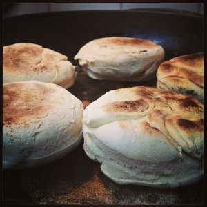 Five toasted English muffins (Tanzania/Creative Commons)
