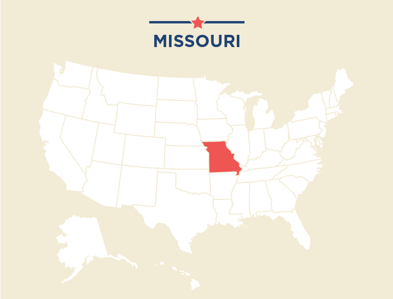 U S Map With Missouri Highlighted State Dept