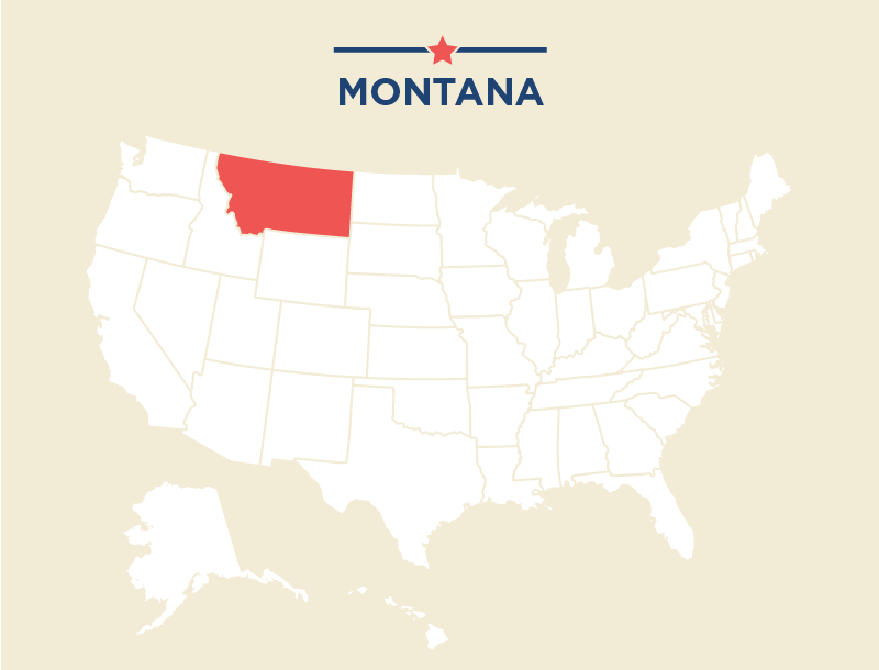 Montana Big Sky Mountains And The Old West ShareAmerica - Montana us map