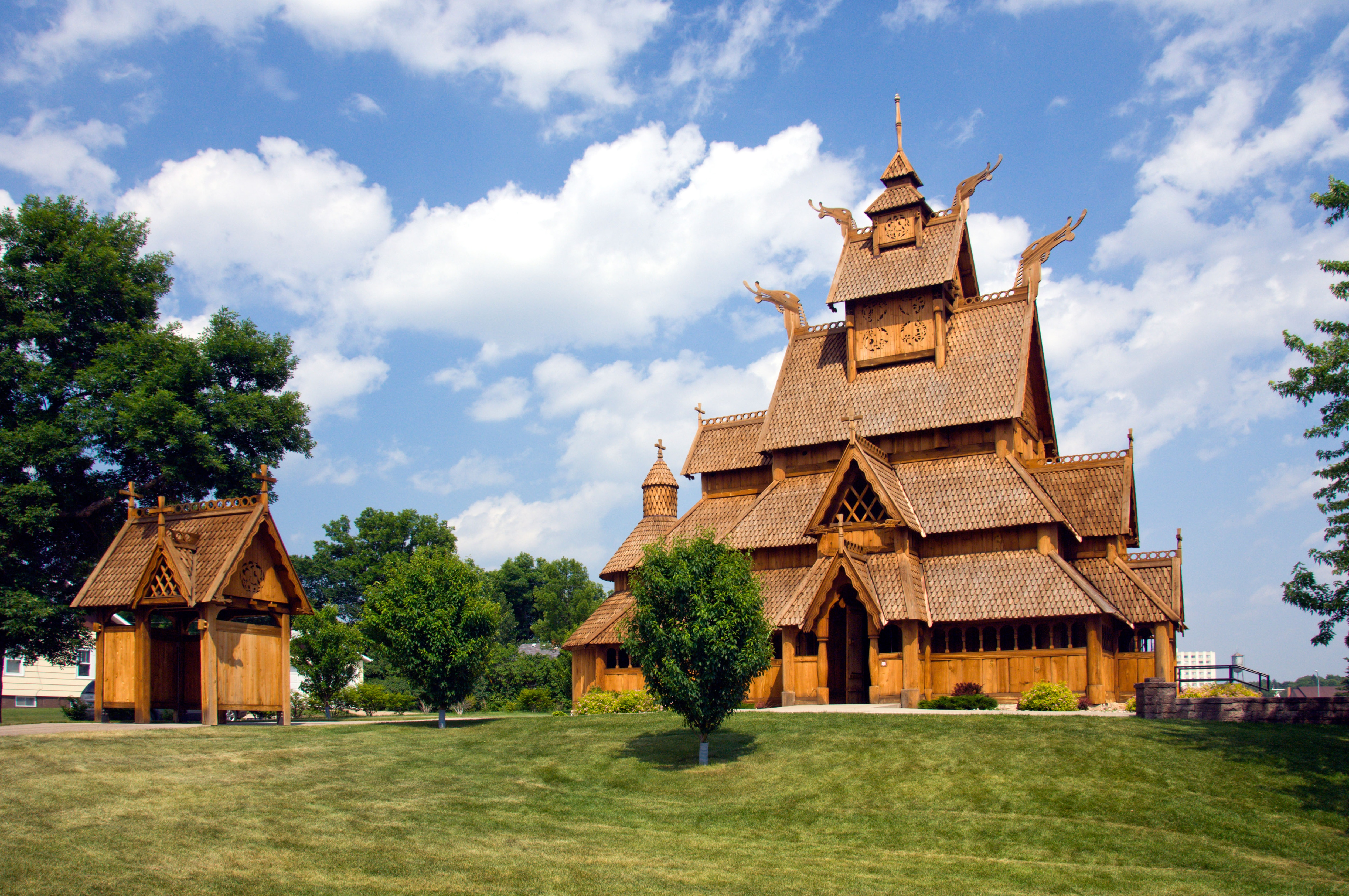 Full-size replica of medieval church (© America/Alamy Stock Photo)