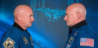 Twins in NASA flightsuits facing each other (NASA)
