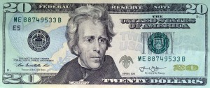 Picture of a $20 bill (U.S. Treasury via AP Images)