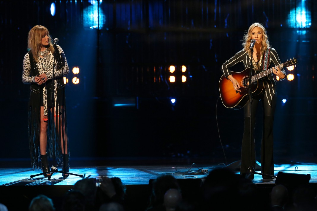 Grace Potter and Sheryl Crow performing onstage (Courtesy of Rock and Roll Hall of Fame and Museum Inc.)