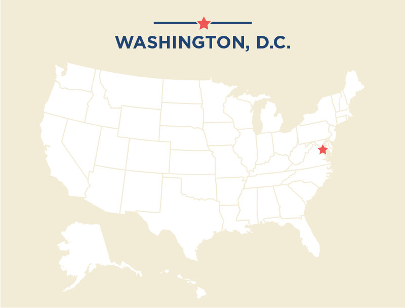 Washington Dc In Us Map Map Of Usa Washington Dc Map Showing The - Washington dc us map
