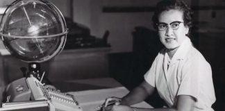 Katherine Johnson at desk (NASA)
