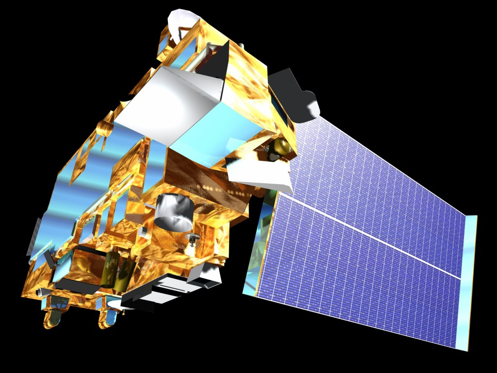 Artistic rendition of satellite (NASA)