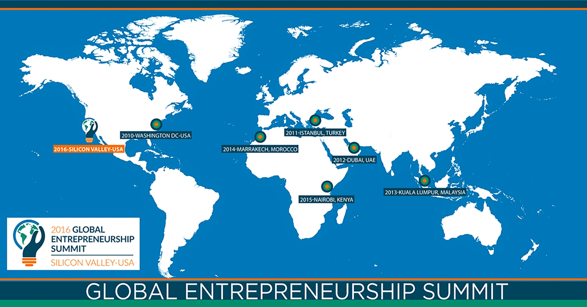 Startups head to silicon valley for global summit shareamerica map of world showing where previous global entrepreneurship summits have been held courtesy of ges gumiabroncs Image collections