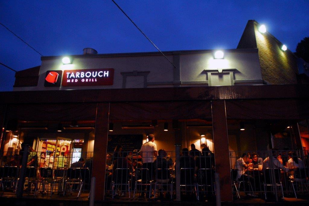 Tarbouch restaurant exterior at night (State Dept.)