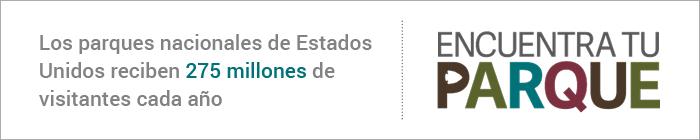 """Cartel que dice """"Encuentra tu parque"""" (Servicio de Parques Nacionales)"""