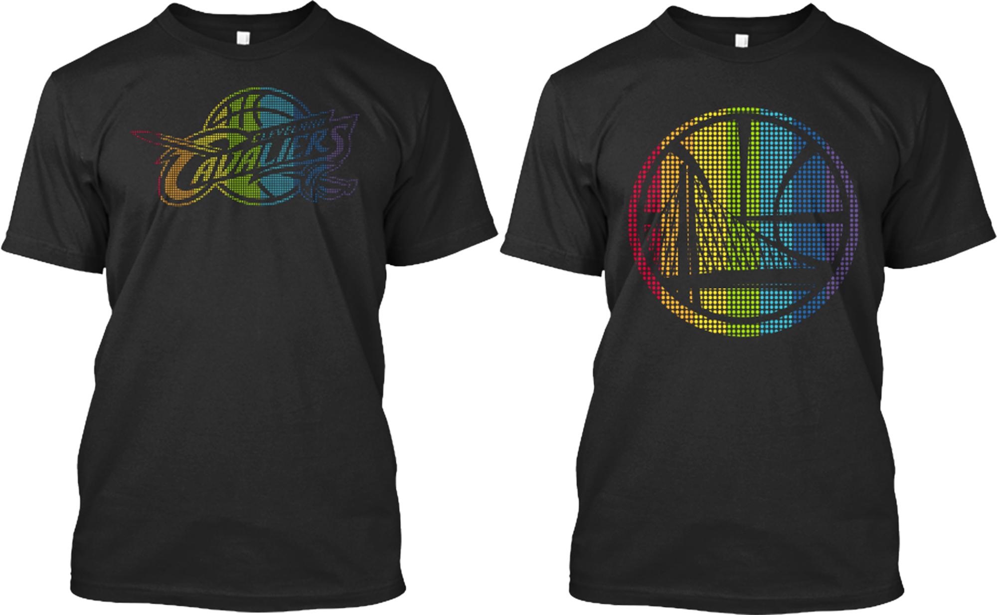 Los equipos de baloncesto profesional apoyan los derechos for Nba basketball t shirts